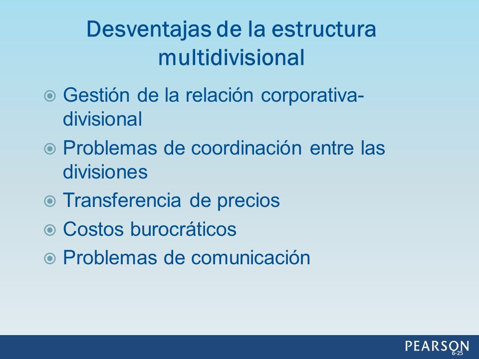 Desventajas de la estructura multidivisional