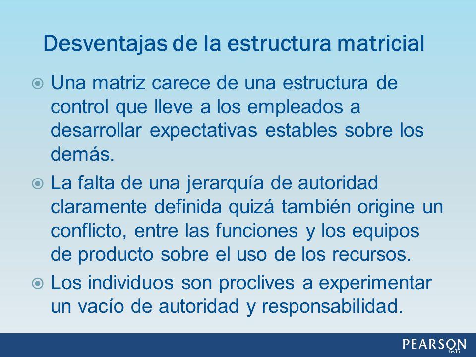 Desventajas de la estructura matricial