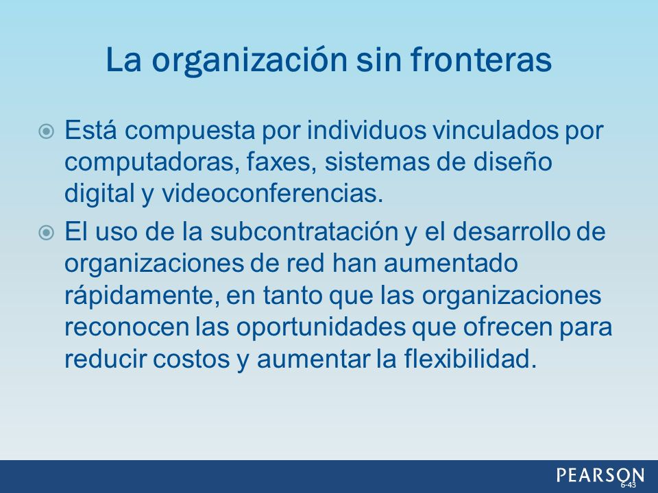 La organización sin fronteras