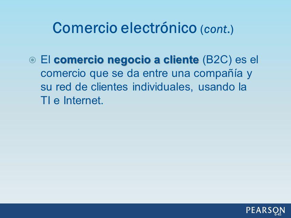 Comercio electrónico (cont.)