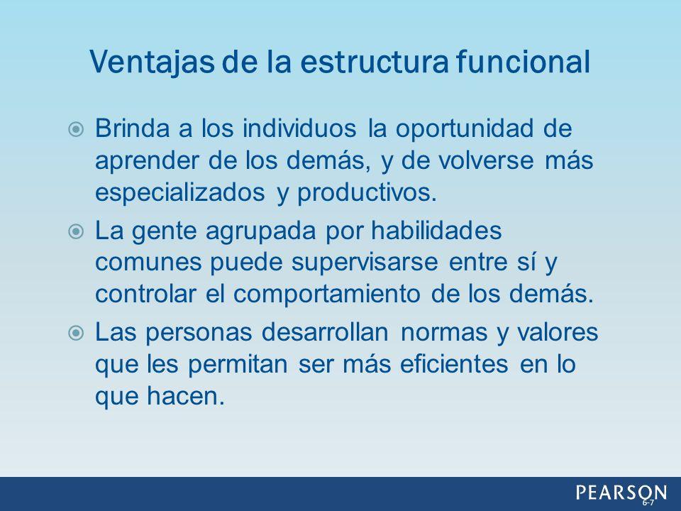 Ventajas de la estructura funcional