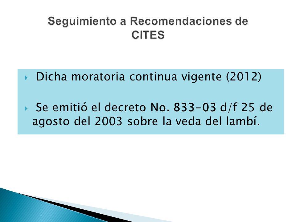 Seguimiento a Recomendaciones de CITES