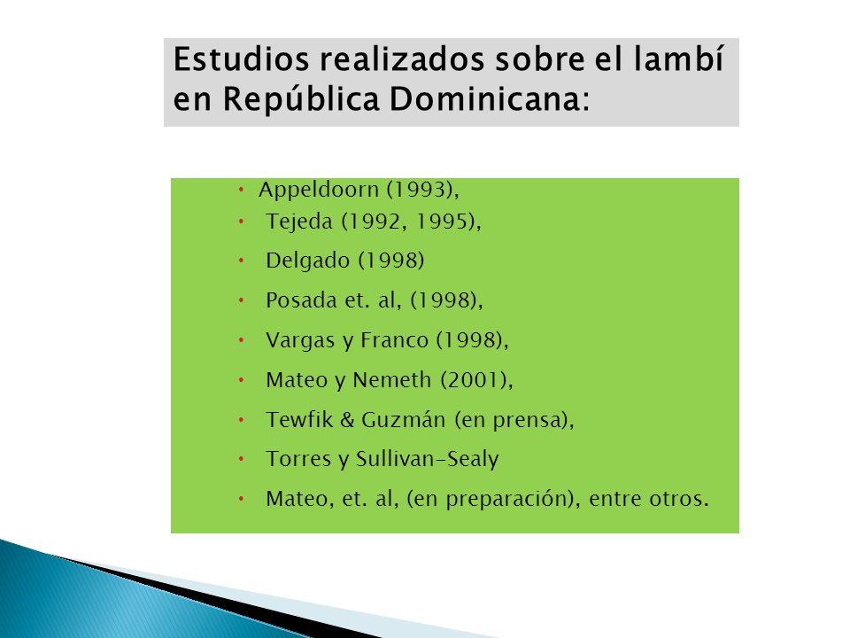 Estudios realizados sobre el lambí en República Dominicana:
