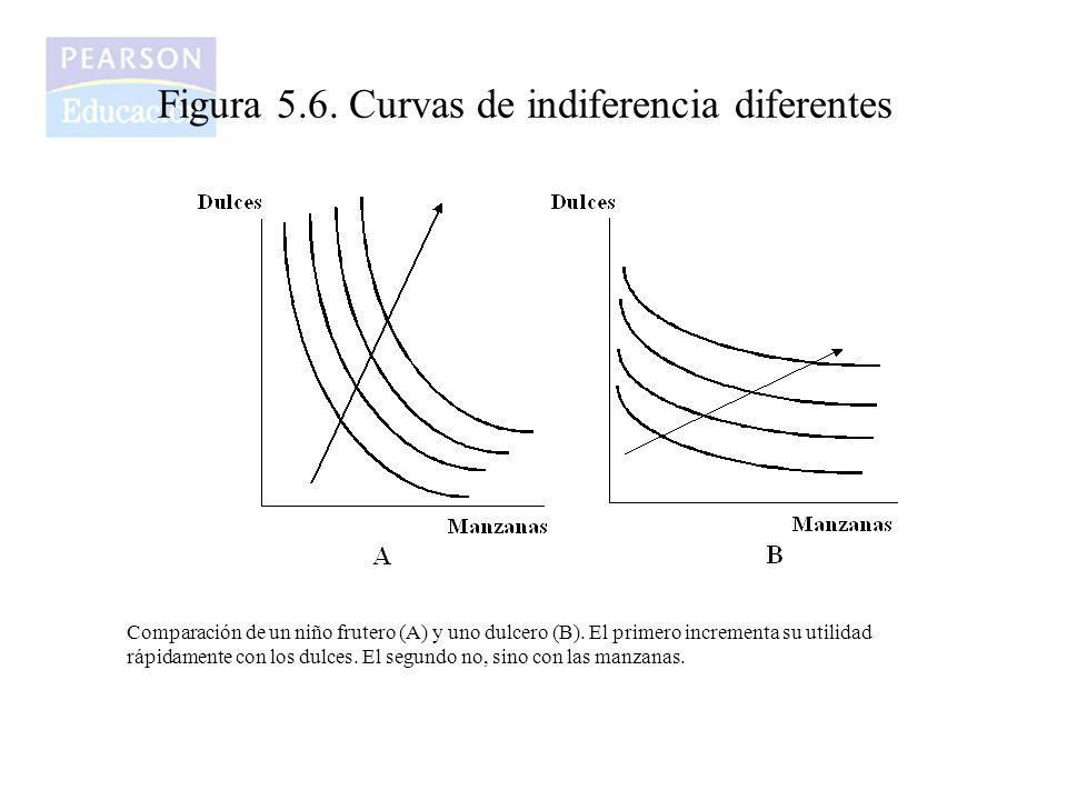 Figura 5.6. Curvas de indiferencia diferentes