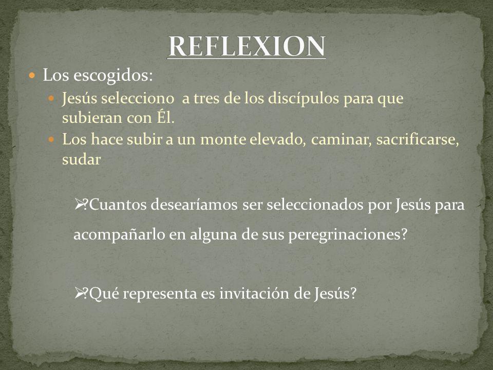 REFLEXION Los escogidos: