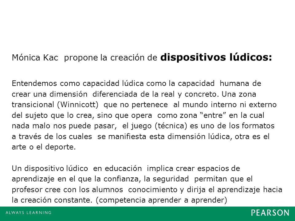 Mónica Kac propone la creación de dispositivos lúdicos: