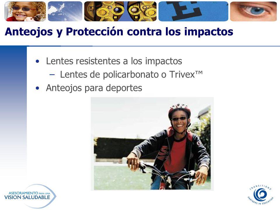 Anteojos y Protección contra los impactos