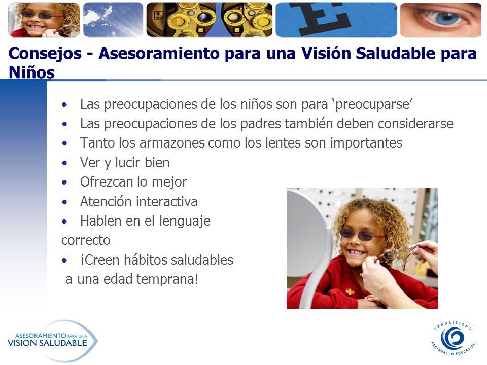 Consejos - Asesoramiento para una Visión Saludable para Niños