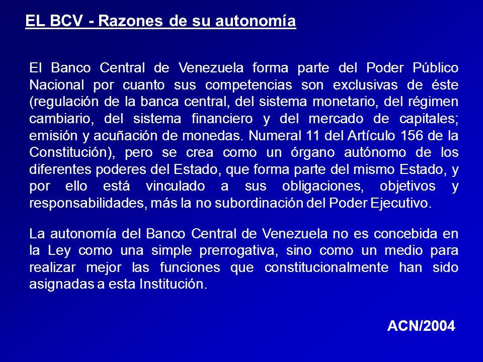 EL BCV - Razones de su autonomía