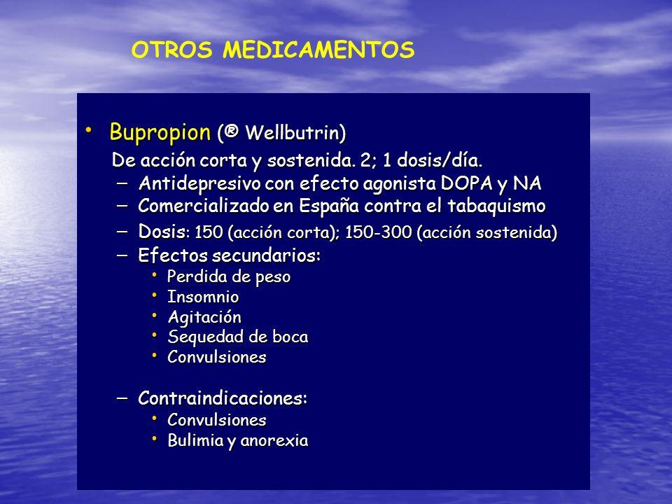 Bupropion (® Wellbutrin)