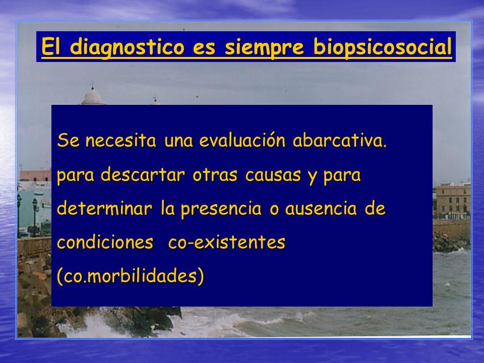 El diagnostico es siempre biopsicosocial