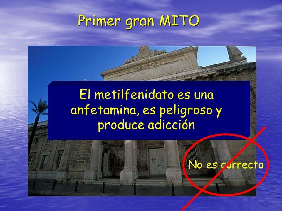 El metilfenidato es una anfetamina, es peligroso y produce adicción