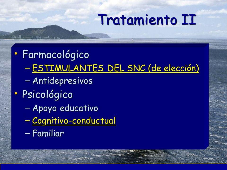 Tratamiento II Farmacológico Psicológico