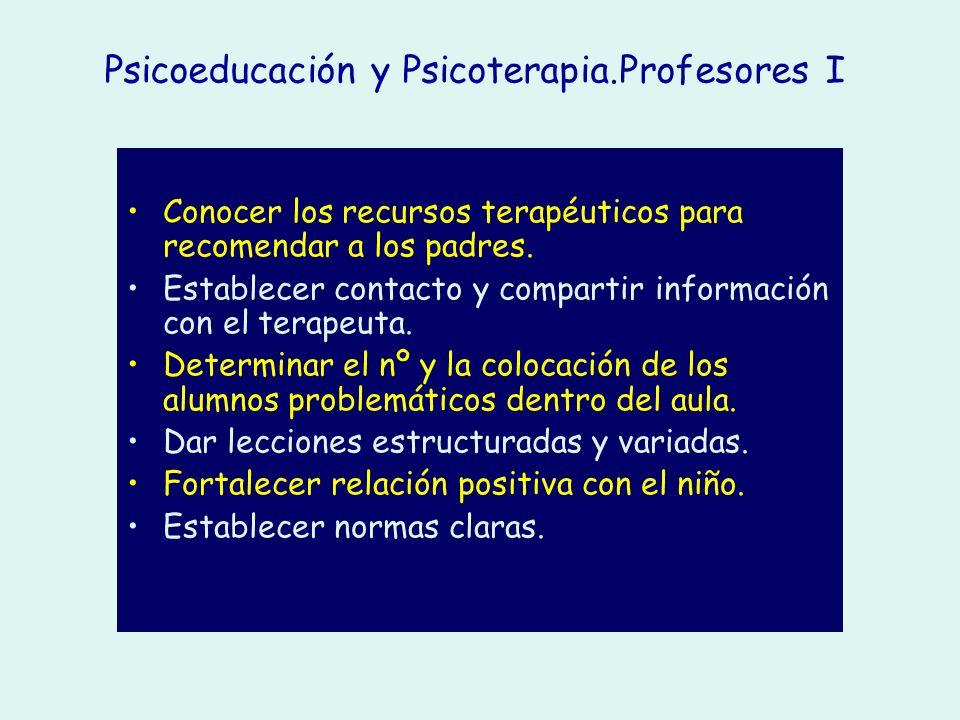 Psicoeducación y Psicoterapia.Profesores I