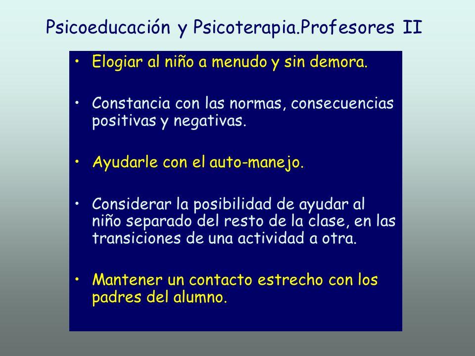 Psicoeducación y Psicoterapia.Profesores II