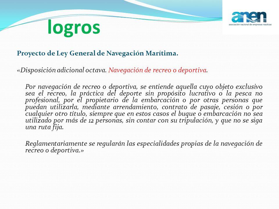 logros Proyecto de Ley General de Navegación Marítima.