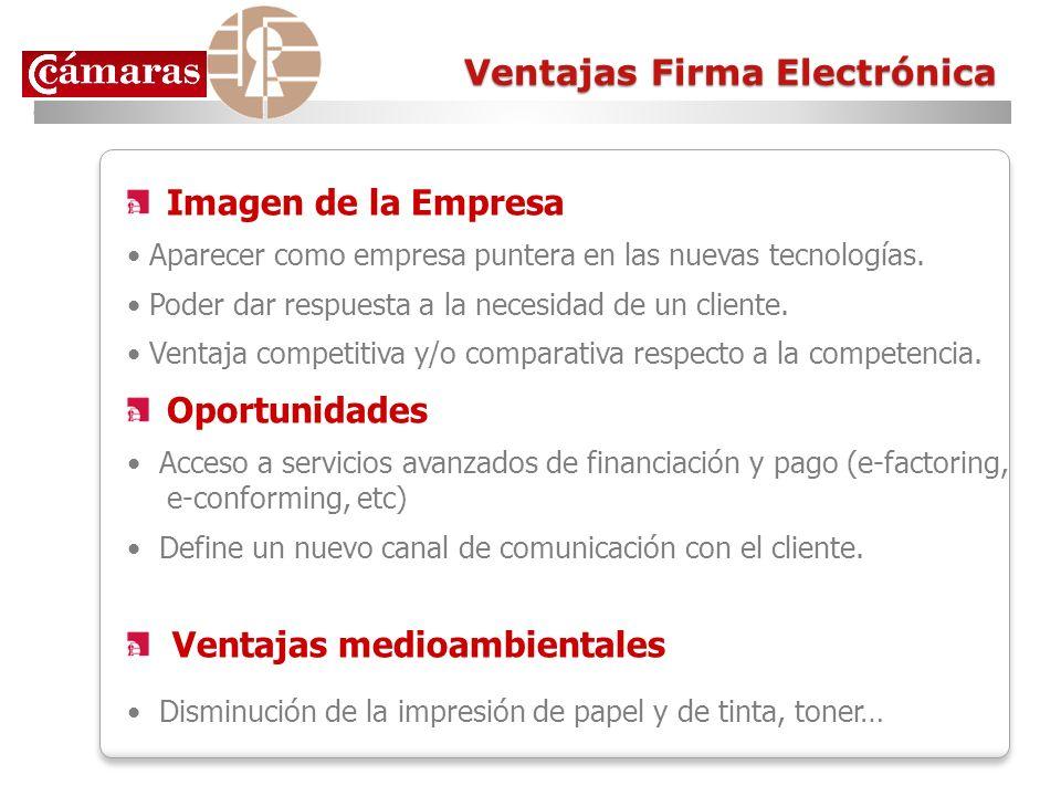 Ventajas Firma Electrónica