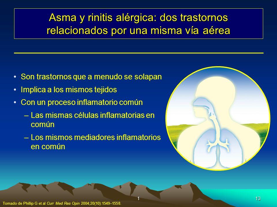 Asma y rinitis alérgica: dos trastornos relacionados por una misma vía aérea