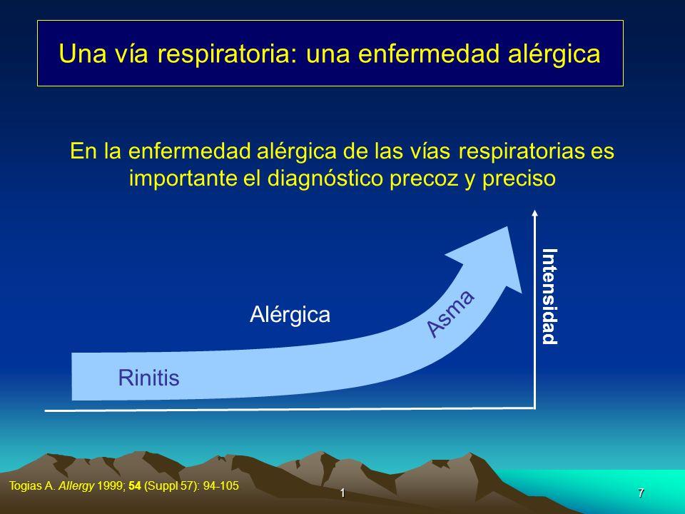 Una vía respiratoria: una enfermedad alérgica