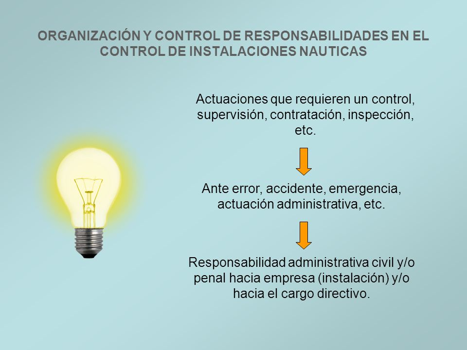 Ante error, accidente, emergencia, actuación administrativa, etc.