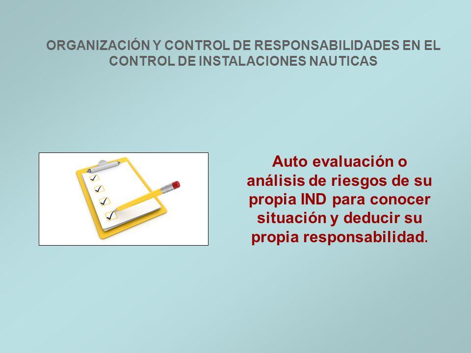ORGANIZACIÓN Y CONTROL DE RESPONSABILIDADES EN EL CONTROL DE INSTALACIONES NAUTICAS