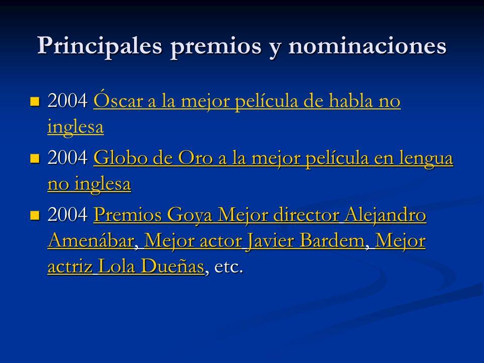 Principales premios y nominaciones