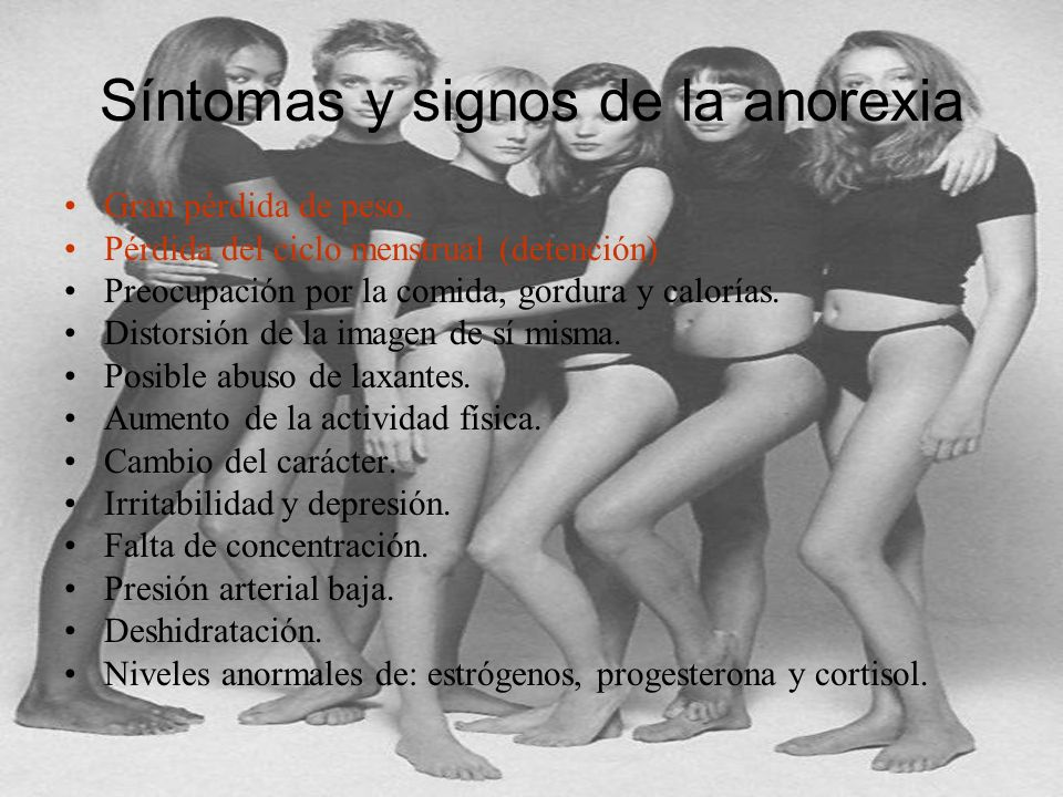 Síntomas y signos de la anorexia