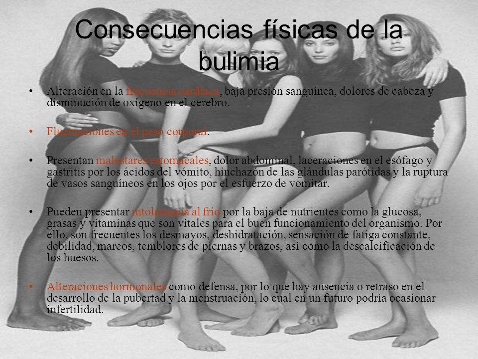 Consecuencias físicas de la bulimia