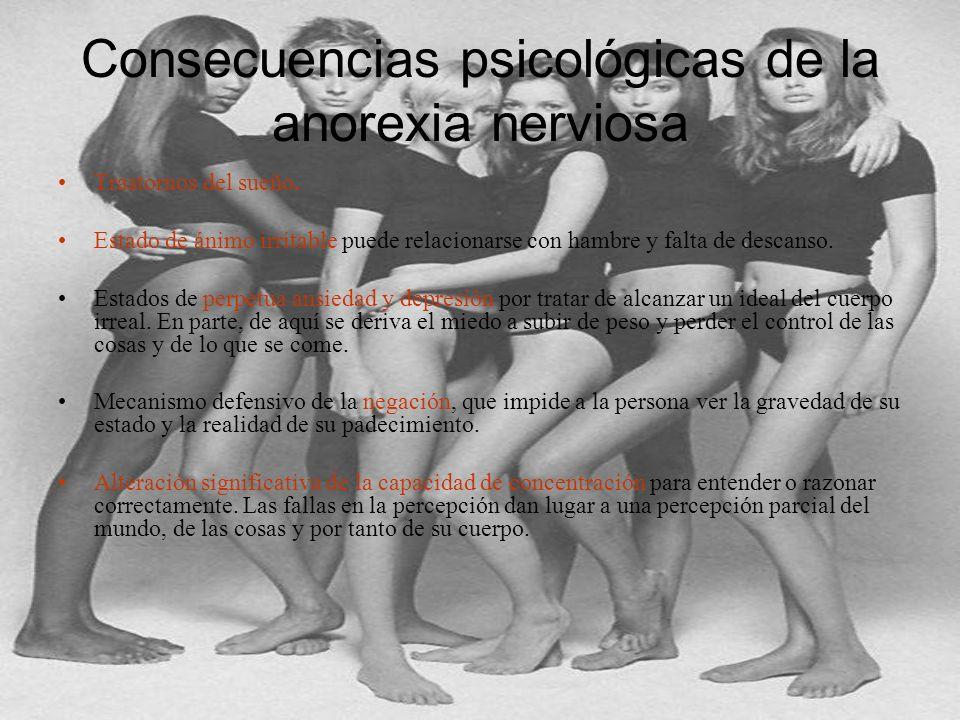 Consecuencias psicológicas de la anorexia nerviosa