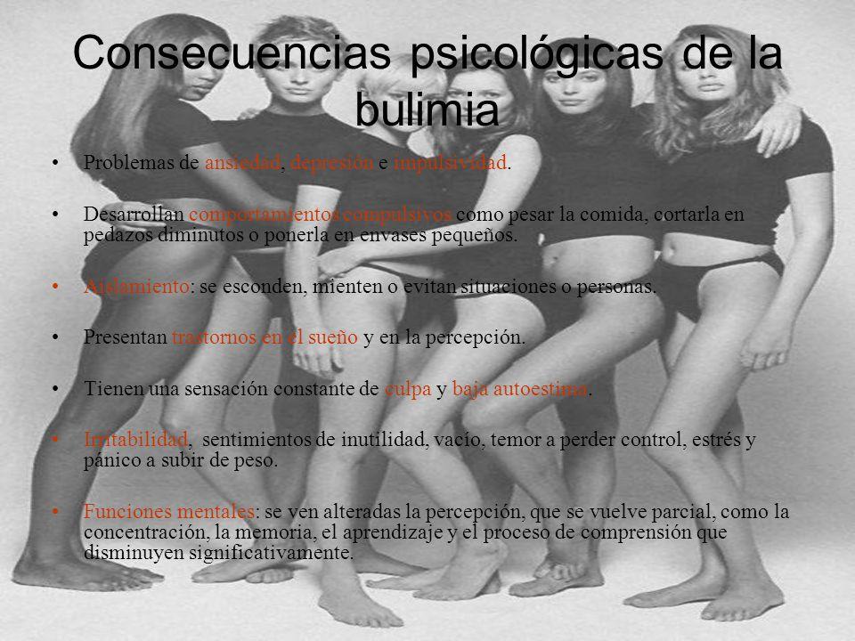 Consecuencias psicológicas de la bulimia