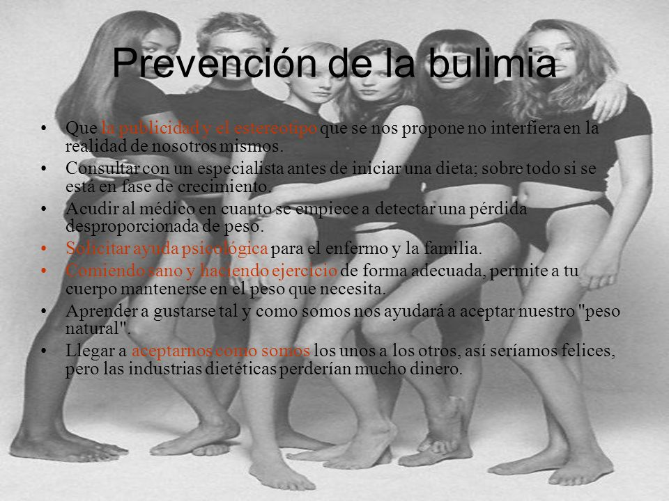 Prevención de la bulimia