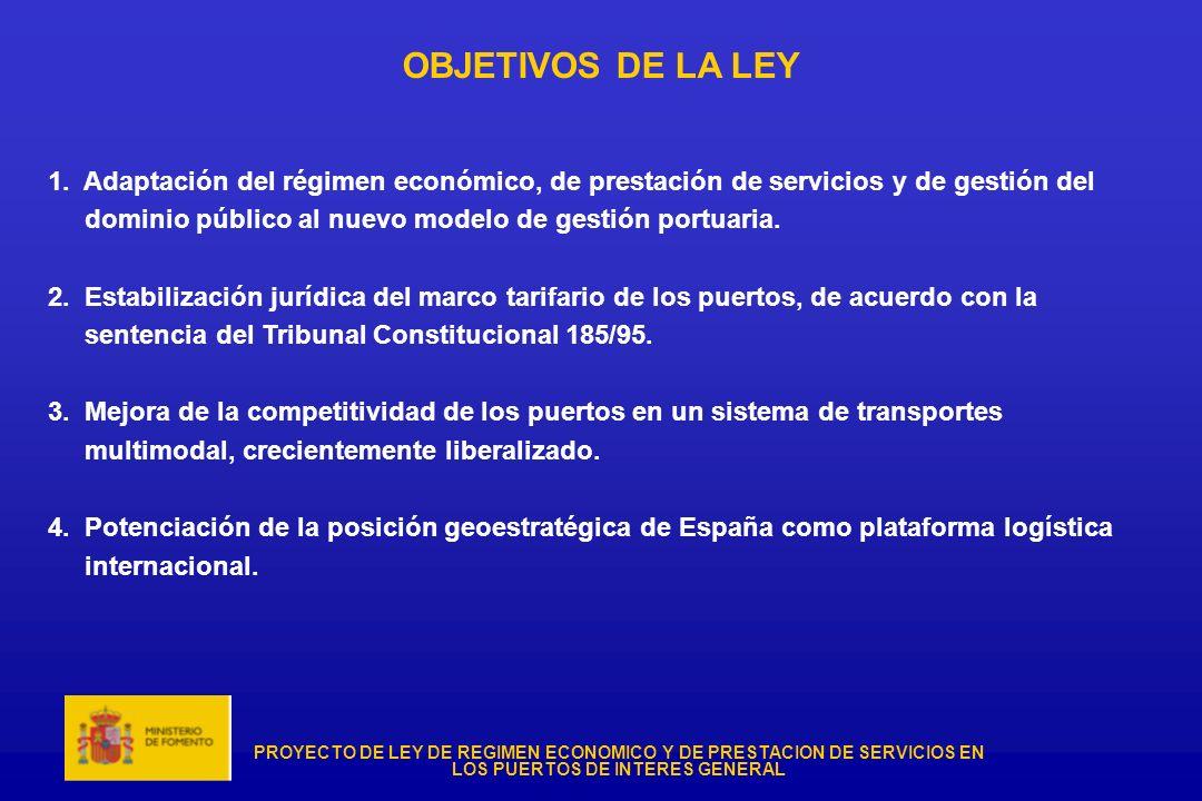 OBJETIVOS DE LA LEY 1. Adaptación del régimen económico, de prestación de servicios y de gestión del.