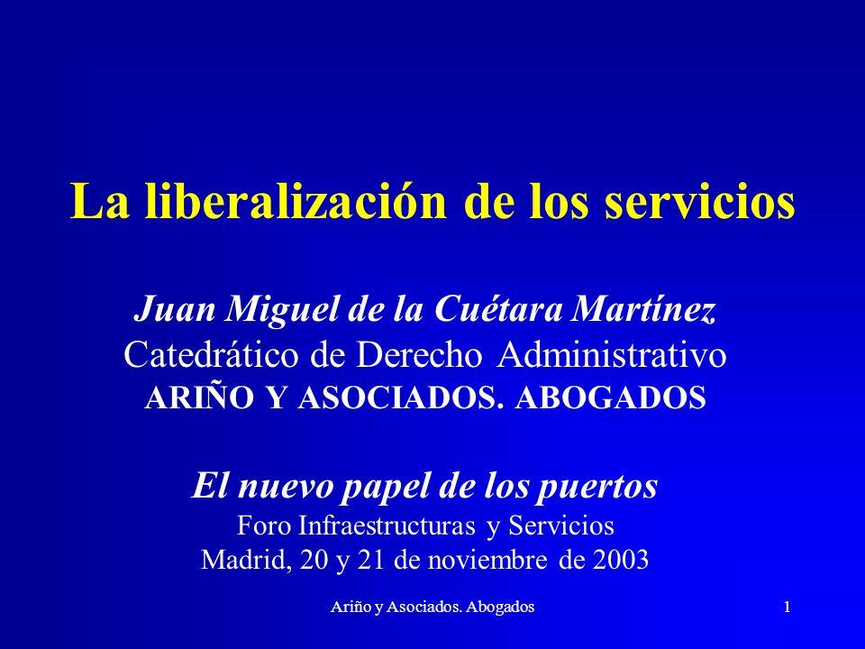 La liberalización de los servicios