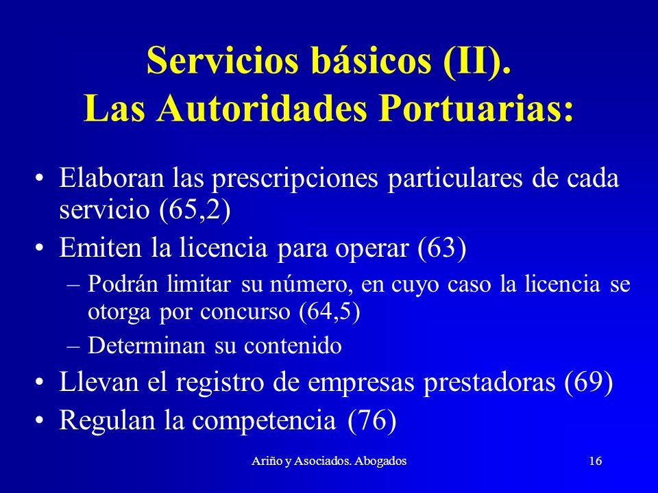 Servicios básicos (II). Las Autoridades Portuarias:
