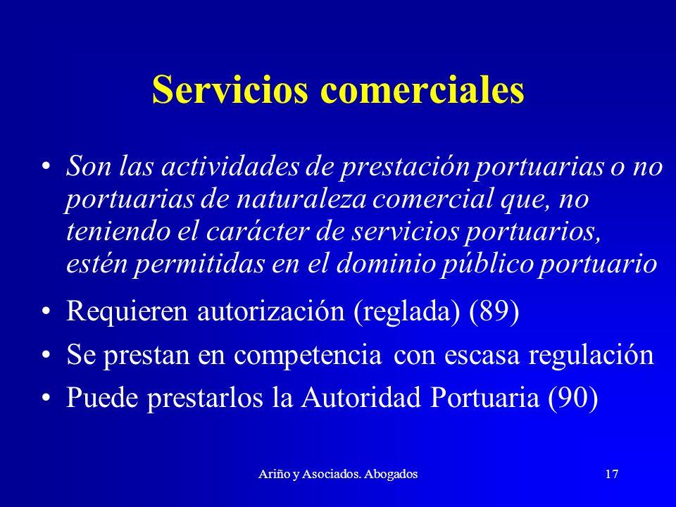 Servicios comerciales