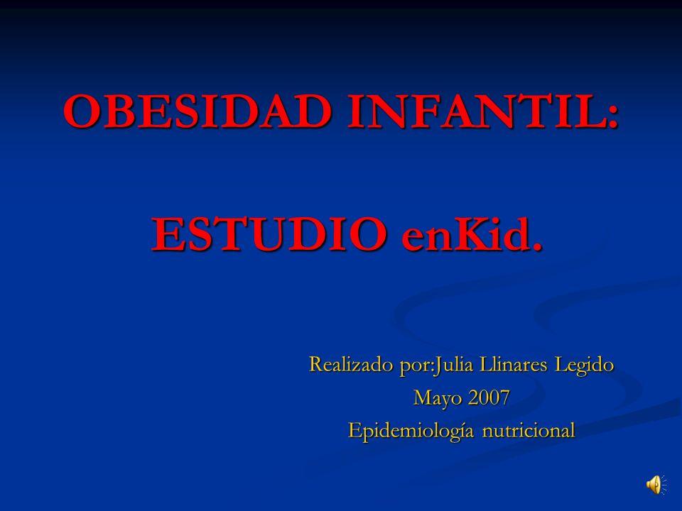 OBESIDAD INFANTIL: ESTUDIO enKid.