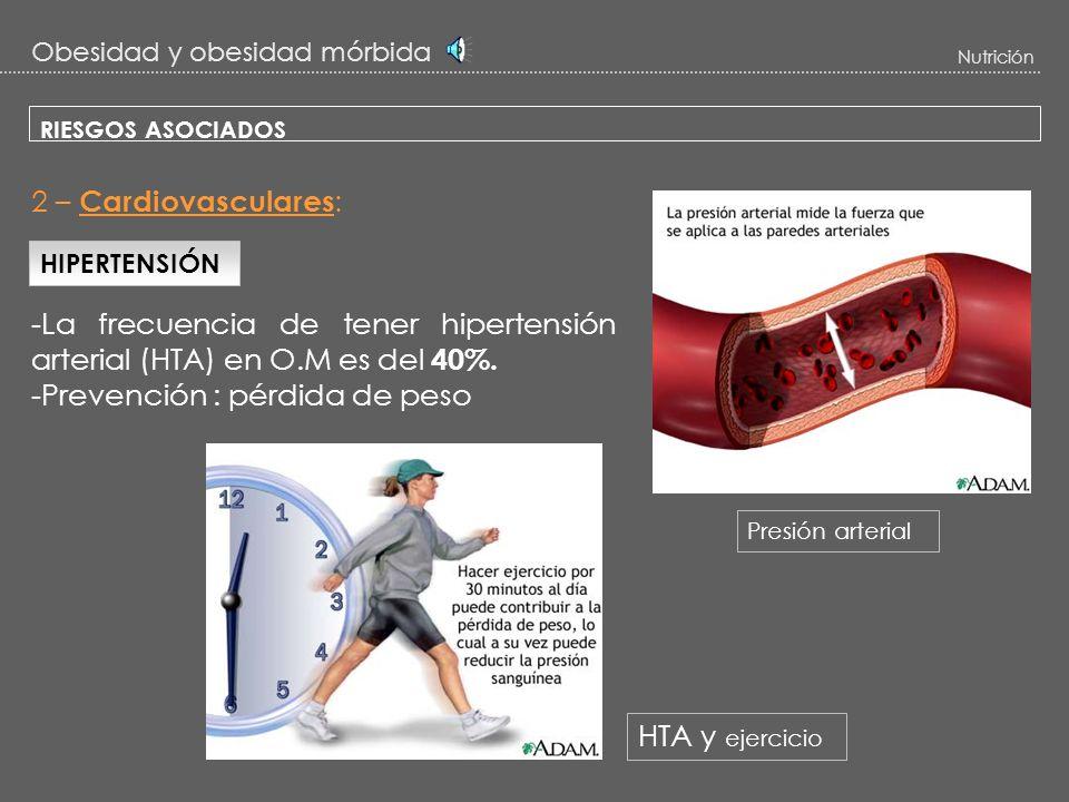 -La frecuencia de tener hipertensión arterial (HTA) en O.M es del 40%.