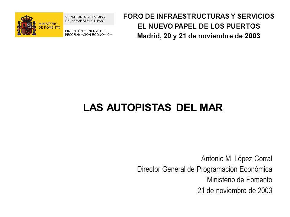 LAS AUTOPISTAS DEL MAR Antonio M. López Corral