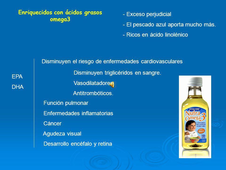 Enriquecidos con ácidos grasos omega3