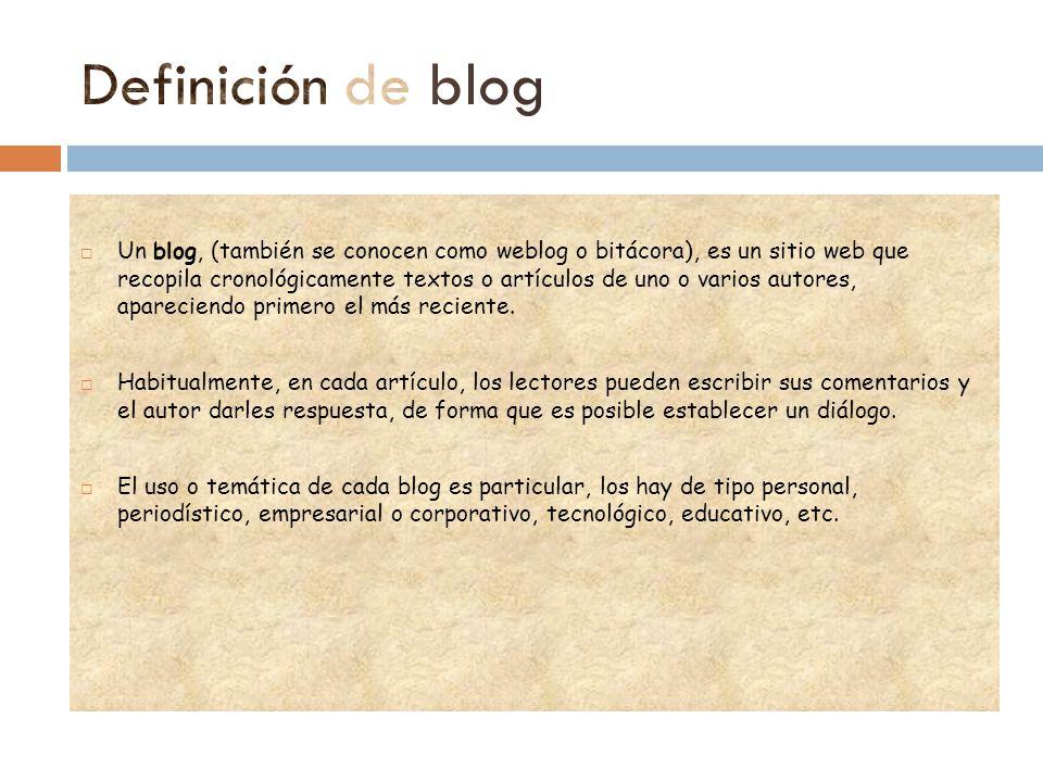 Definición de blog