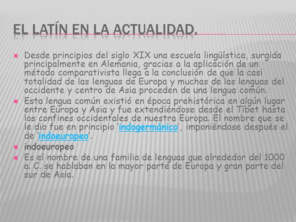 El latín en la actualidad.