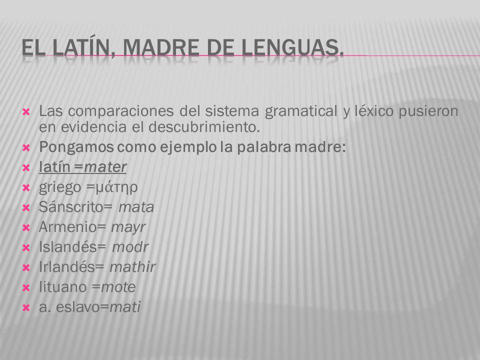 El latín, madre de lenguas.