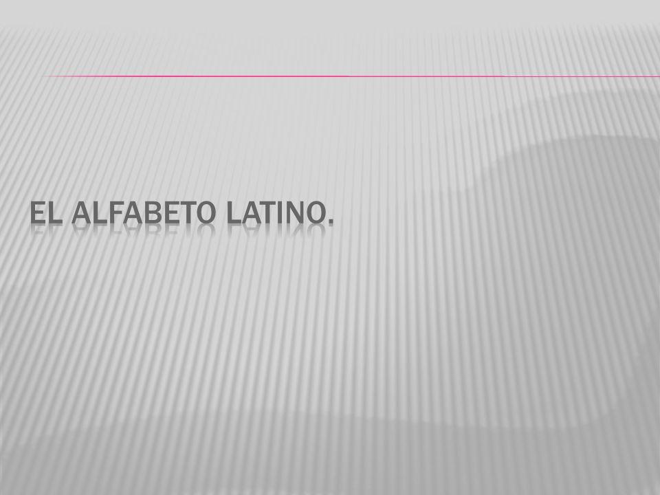 El alfabeto latino.