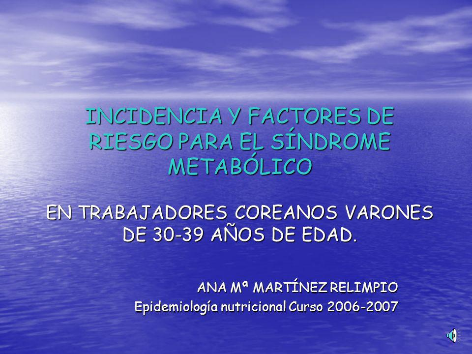 ANA Mª MARTÍNEZ RELIMPIO Epidemiología nutricional Curso 2006-2007