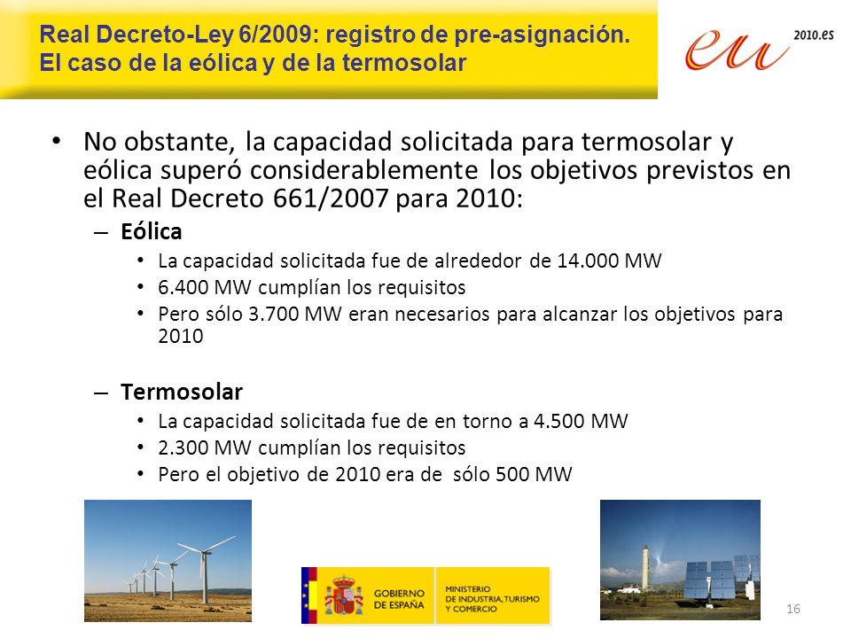 Real Decreto-Ley 6/2009: registro de pre-asignación