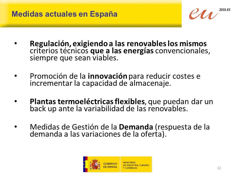 Medidas actuales en España