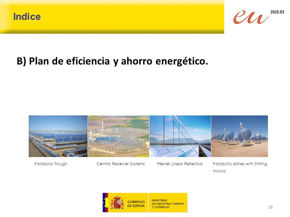 B) Plan de eficiencia y ahorro energético.