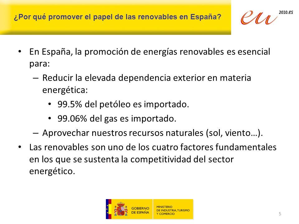 ¿Por qué promover el papel de las renovables en España