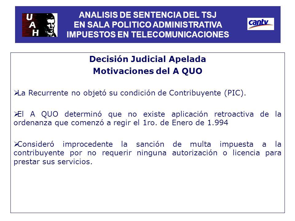Decisión Judicial Apelada