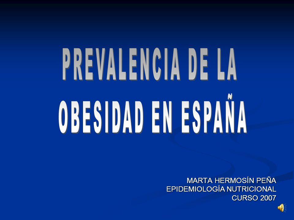 PREVALENCIA DE LA OBESIDAD EN ESPAÑA MARTA HERMOSÍN PEÑA